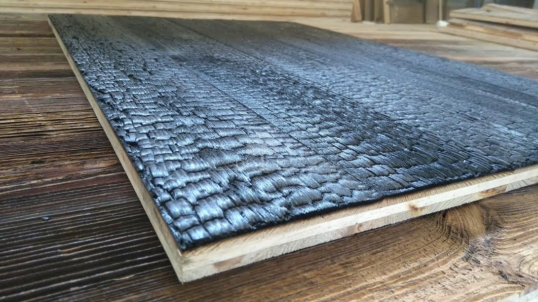 Shou Sugi Ban 3 Layer Panel Ecodesignwood Reclaimed